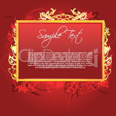 Florale Textkarte