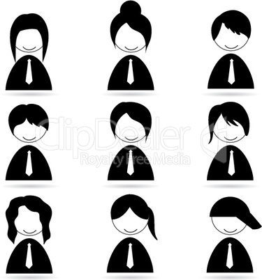 different human icons