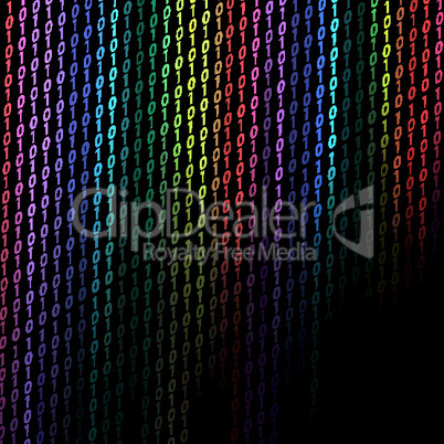 colorful binary background