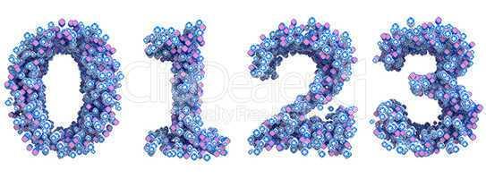 Patriotic USA font 0 1 2 3 numerals