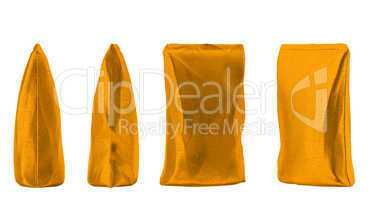 4 Golden sacking packs for coffee or tea