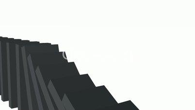 3D Domino-Effekt - Schwarz 03