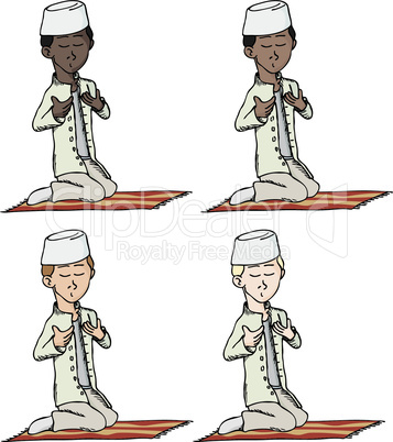 Muslim Boy Praying