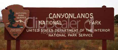 Entrance of Canyonlands  NP