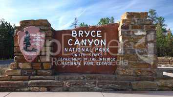 Entrance of Bryce Canyon NP