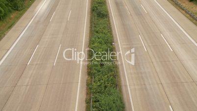 Autobahn von oben (Bewegungsunschärfe)