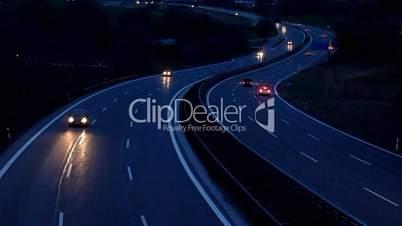 Motorway at Night - Autobahn bei Nacht