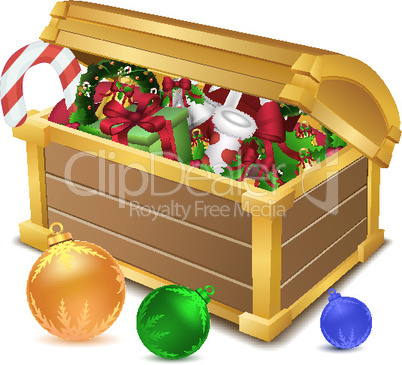 treasure chest full of christmas goodies