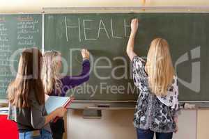 Preparing the blackboard