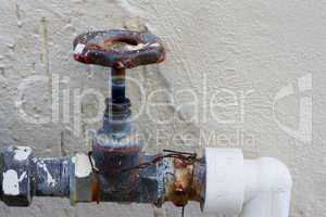 Rusting old water valve