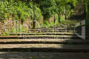 Treppe in Volterra, Toskana - Stairway in Volterra, Tuscany, Italy