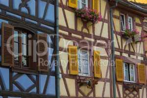 Fachwerkhäuser in Colmar, Frankreich - Half-timbered houses in Colmar, France