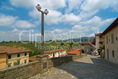 Dorfansicht Vinci, Toskana - City view of Vinci, Tuscany