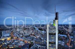 Frankfurt Panorama mit Bank Tower