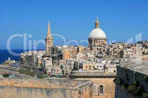 Blick über Valletta