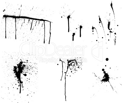 grunge vector background set
