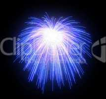 Celebration: blue festive fireworks