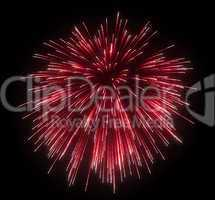 Celebration: red festive fireworks