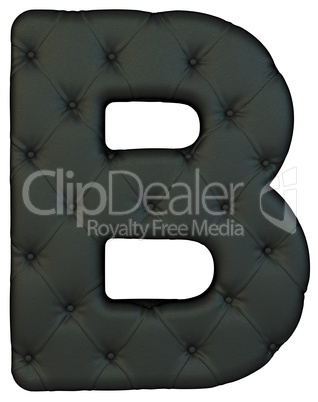 Luxury black leather font B letter