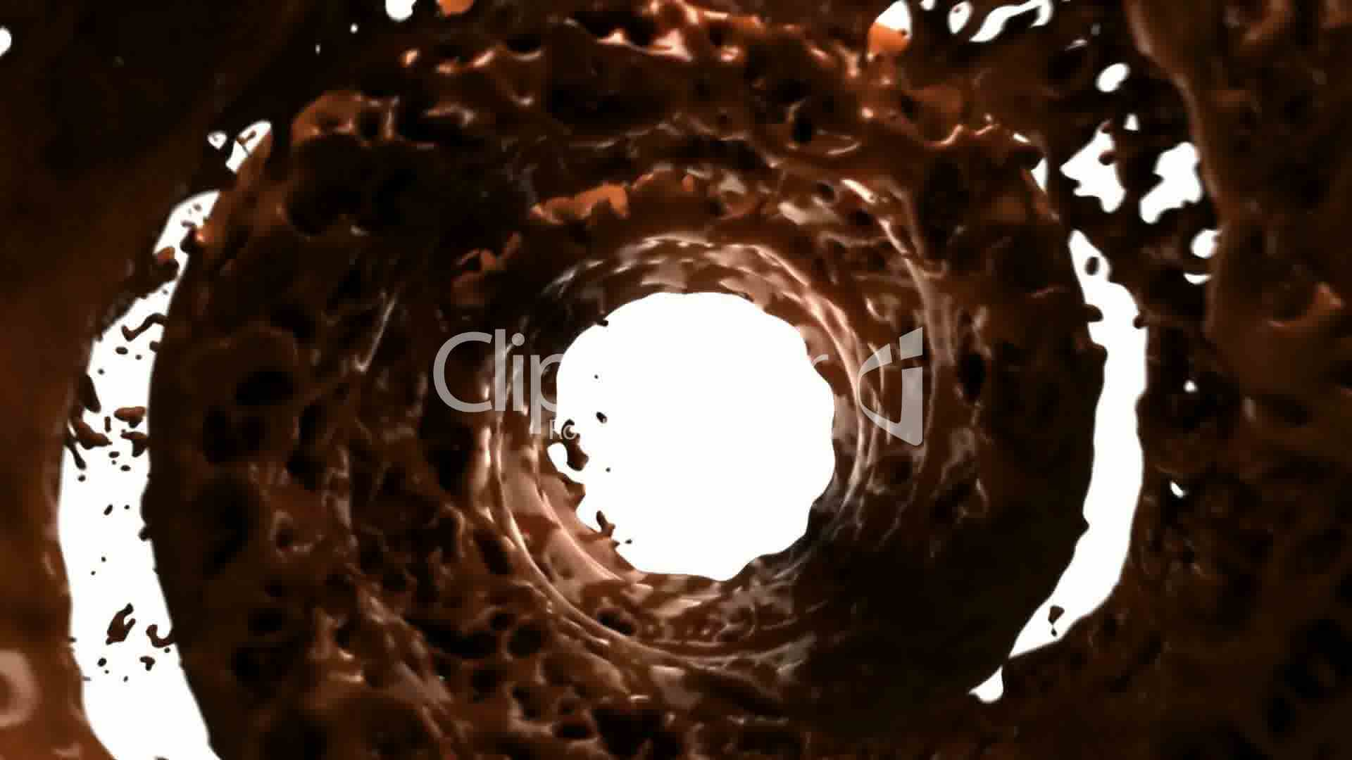 Hot Chocolate Whirlpool With Slow Motion Royalty-Free Video And Stock Footage-2795