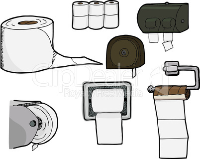 Toilet Paper Rolls and Dispensers