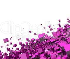 3D - Hintergrund - Fliegende Würfel pink 08