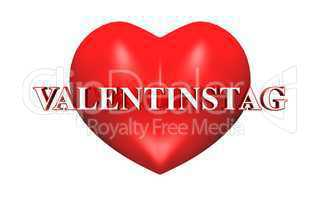 3D Herz rot - Valentinstag