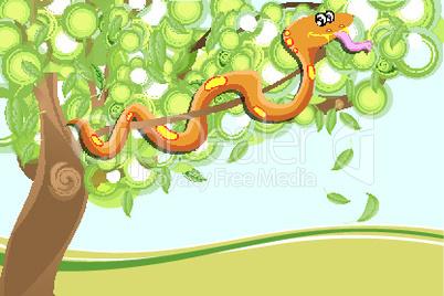 Schlange im Baum
