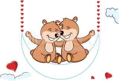 Bären in der Schaukel