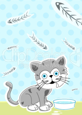 Katze und Fressnapf
