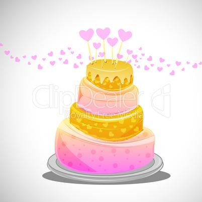 abstract birthday cake
