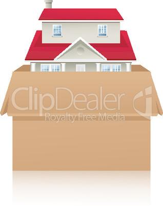 Haus im Karton
