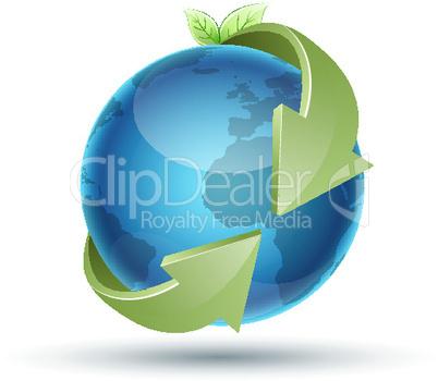Globus und Pfeile