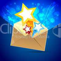 letter with stars