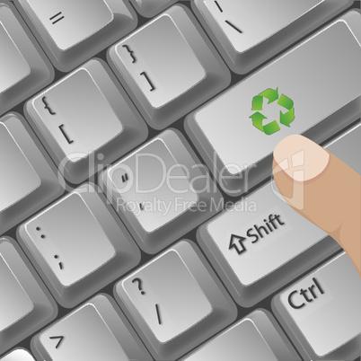 Umweltfreunliche Tastatur