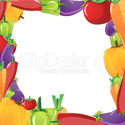 Rahmen aus Gemüse