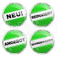 Button Set grün