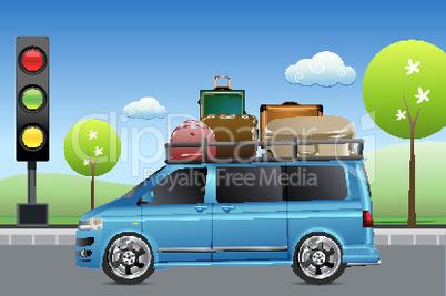 Reise mit dem Auto