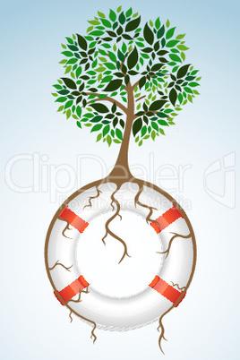 Baum am Rettungsring