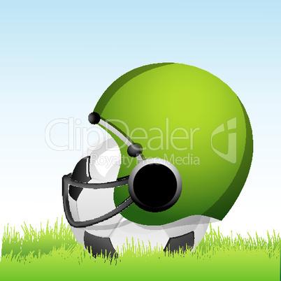 Helm und Fußball