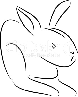 Abstract illustration of a bunny