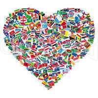 Flaggen Herz