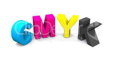3D - CMYK Buchstaben - freigestellt 07