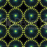 paper wind mill pattern black and yellow