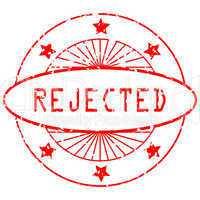 grunge round stamp - rejected