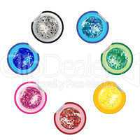 disco ball stickers collection
