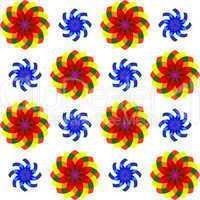 geometric seamless flowers pattern 2