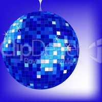 disco ball blue 2 - Jpeg