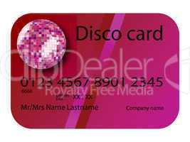 credit card disco purple