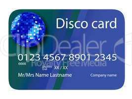 credit card disco blue